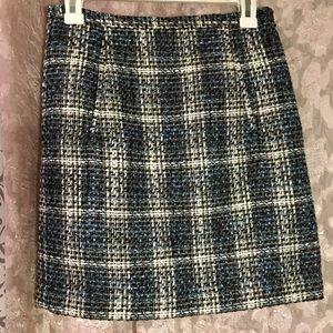 Ann Taylor Loft Tweed Skirt US 2P
